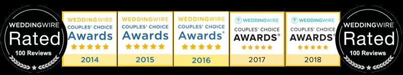 WeddingWire badges